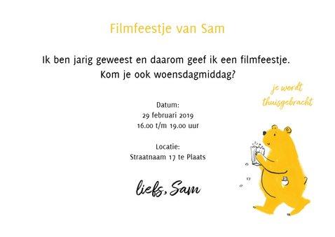 Uitnodiging Bioscoop- Filmfeestje voor jongen en meisje 3