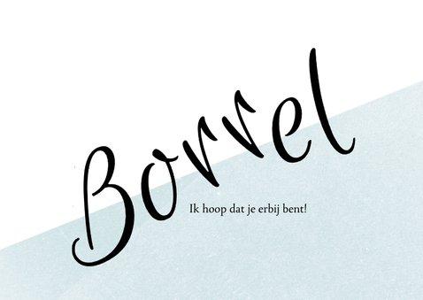 Uitnodiging borrel 30ste verjaardag, leuke typografie 3