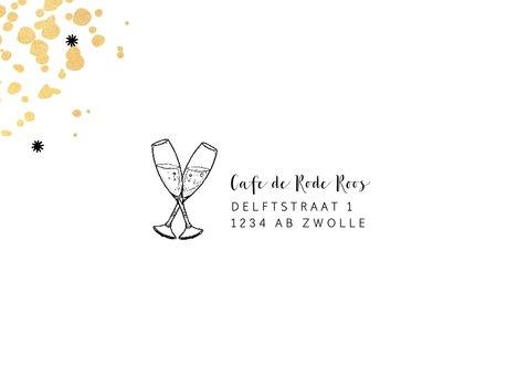 Uitnodiging borrel gelegenheid feestelijk en stijlvol 2