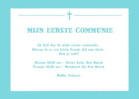 Uitnodiging Communie Foto 3