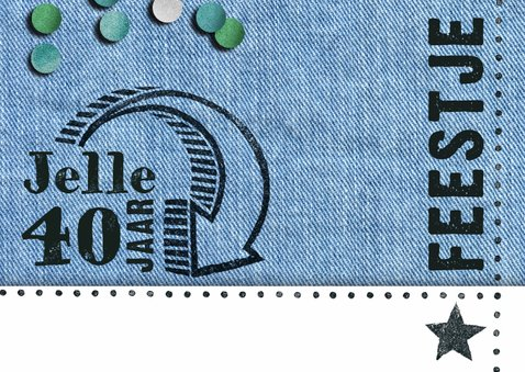 uitnodiging  denim stempel hip man 2