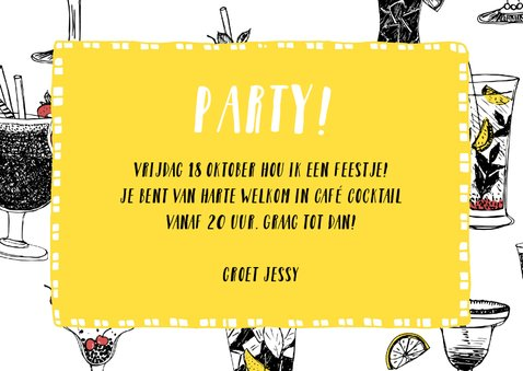 Uitnodiging feest cocktailparty 3