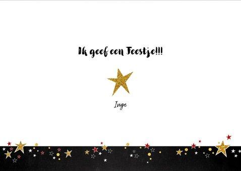Uitnodiging feestelijke typografische foto kaart  3