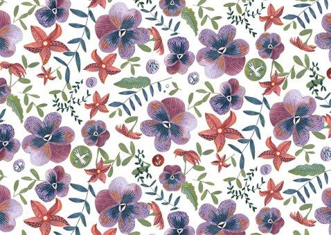 Uitnodiging Feestje Bloemen Botanisch 2