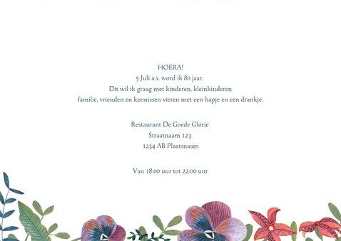 Uitnodiging Feestje Bloemen Botanisch 3