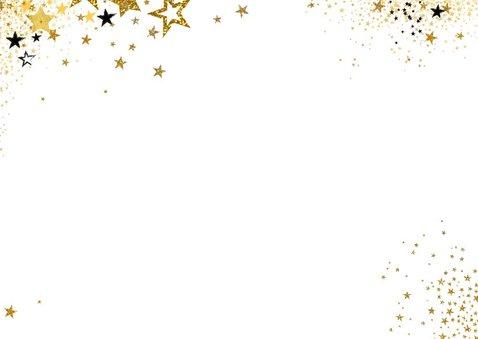 Uitnodiging feestje moderne feestelijke kaart sterren 2