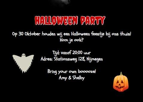 Uitnodiging Halloween feest Foto 3