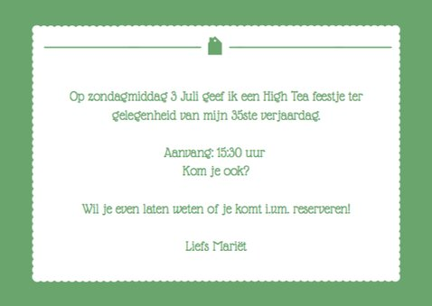 Uitnodiging High Tea Foto 3