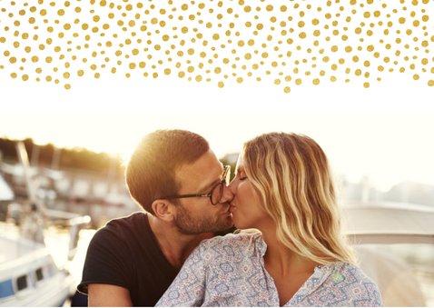 Uitnodiging huwelijk met een dagindeling tijdlijn goudlook 2