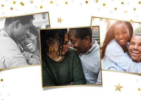 Uitnodiging jubileum 25 jaar getrouwd met goud en confetti 2