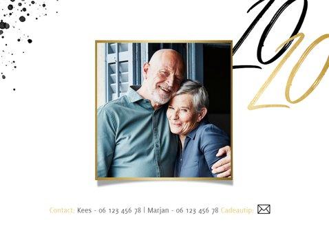 Uitnodiging jubileum 50 jaar getrouwd foto's en jaartallen 2