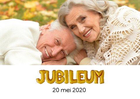 Uitnodiging Jubileum ballonnen goud 2
