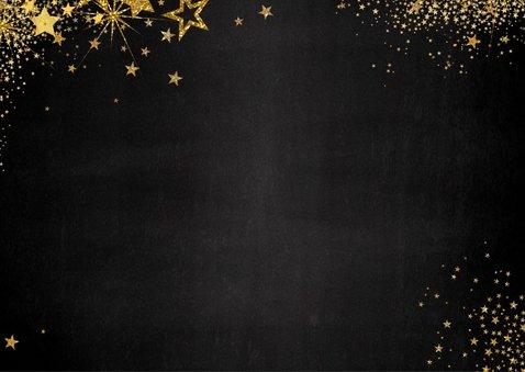 Uitnodiging (kerst) borrel feestelijke kaart met sterretjes 2