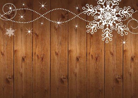 Uitnodiging kerstborrel houtprint  2