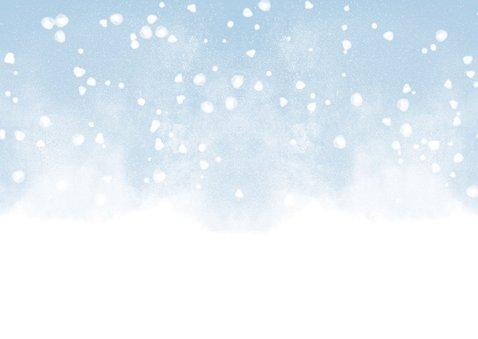 Uitnodiging kerstborrel met waterverf en sneeuw 2