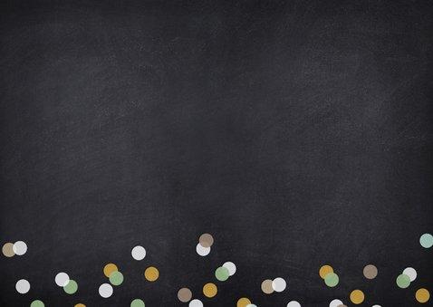 Uitnodiging kerstborrel proost met champagneglazen Achterkant