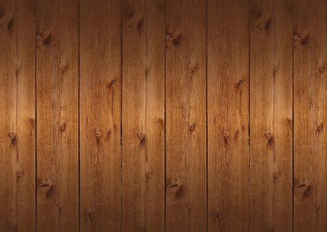 Uitnodiging kerstborrel sneeuwvlokken houtlook Achterkant