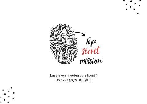 Uitnodiging kinderfeestje geheim agent spy mission 2