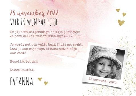 Uitnodiging Kinderfeestje Zwanen Prinsessenfeest 3