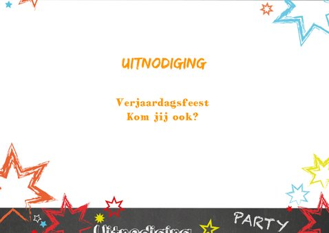 Uitnodiging kinderverjaardag stoer graffiti Party 3