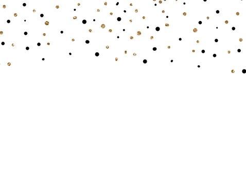 Uitnodiging met het jaartal 2018  goud ballonnen 2