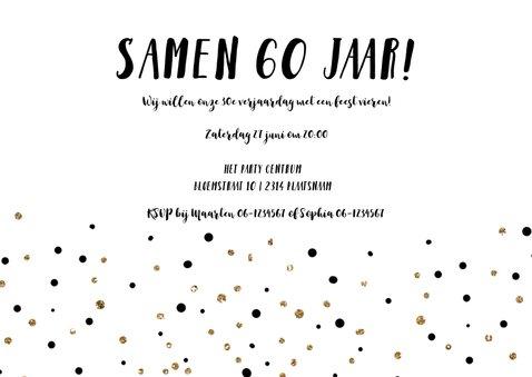 Uitnodiging met het jaartal 2018  goud ballonnen 3