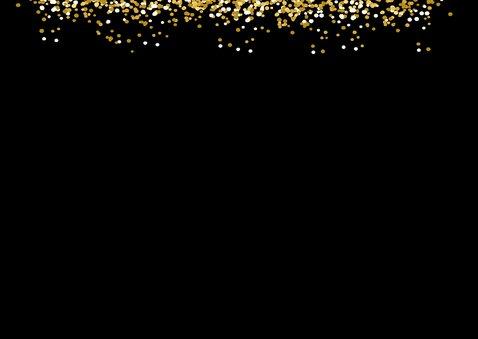 Uitnodiging - moderne uitnodiging foto glitter 2