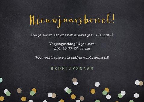 Uitnodiging nieuwjaarsborrel proost met champagneglazen 3