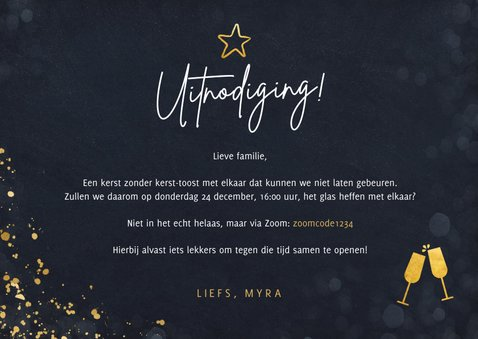 Uitnodiging online kerstborrel met familie of vrienden 3