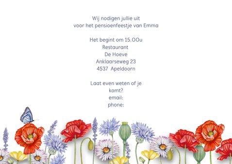 Uitnodiging pensioen veldbloemen 3