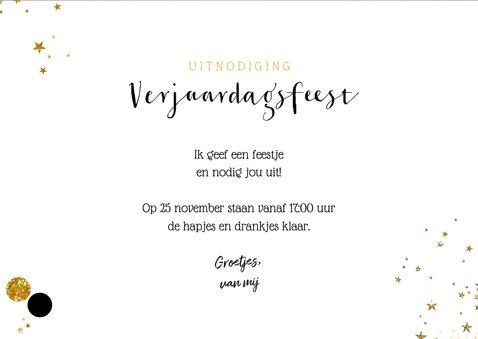 Uitnodiging stijlvolle foto kaart krijtbord met confetti 3