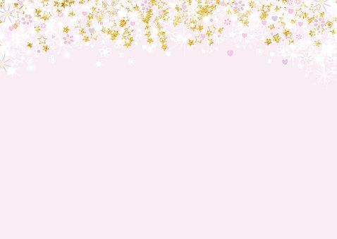 Uitnodiging stijlvolle fotokaart hartjes een bloemen 2