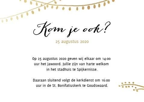 Uitnodiging trouwkaart bruiloft tuin bloemen 2
