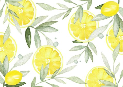 Uitnodiging verjaardag citroen met foto 2