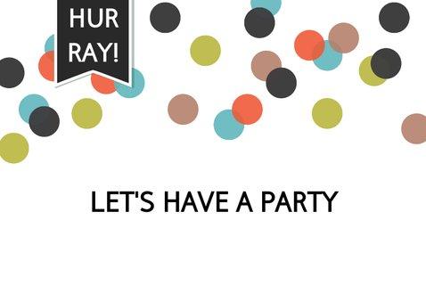 Uitnodiging verjaardagsfeest met eigen foto en confetti 2