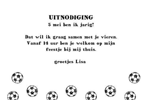 Uitnodiging voetbal feestje meisje 3