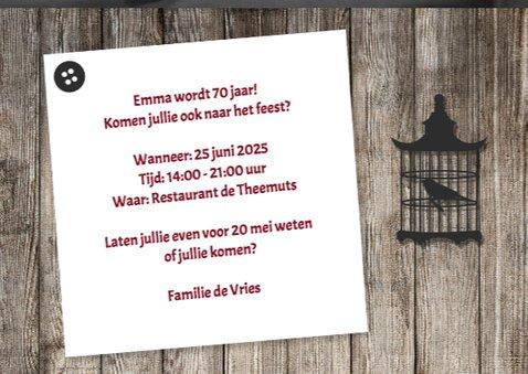 Uitnodiging voor een  feest - DH 3