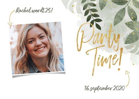Uitnodiging voor verjaardag botanische print & typografie 2