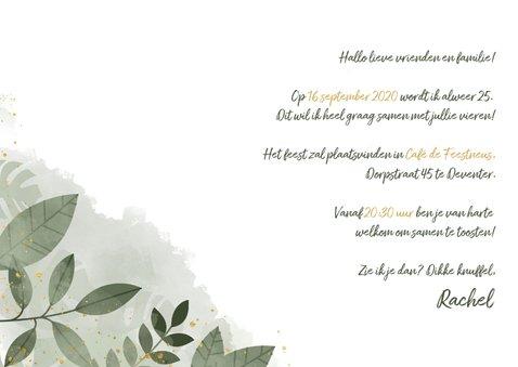 Uitnodiging voor verjaardag botanische print & typografie 3