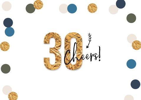 Uitnodigingskaart confetti goud feest 30 foto 2