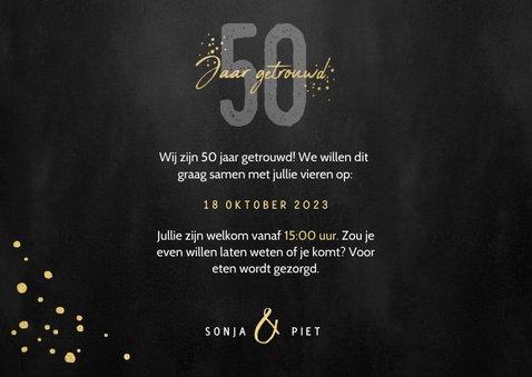 Uitnodigingskaart jubileum 50 jaar gouden spetters en foto's 3