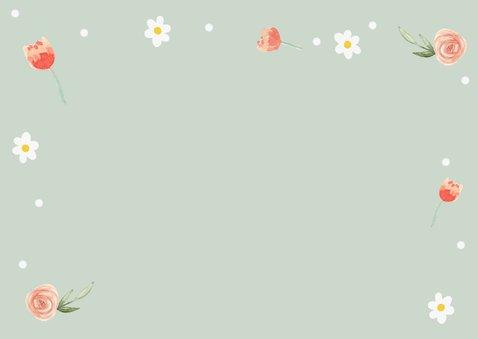 Uitnodigingskaartje bloemetjes 2