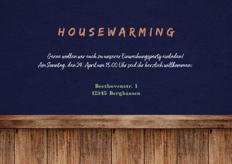 Umzugskarte 'new home' Foto in Rahmen und Pflanzen 3