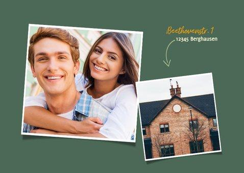 Umzugskarte Schneckenhaus mit Foto 2
