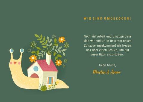 Umzugskarte Schneckenhaus mit Foto 3