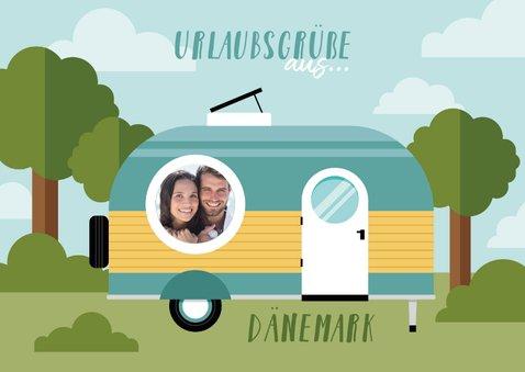 Urlaubskarte Wohnwagen mit eigenem Foto 3