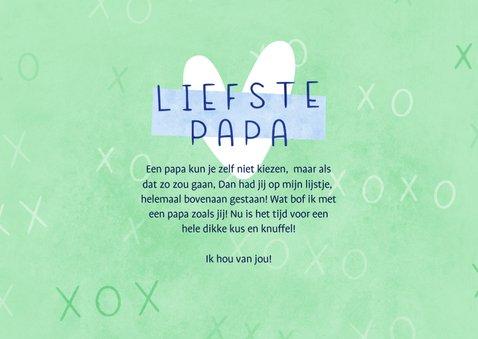Vaderdag kaart 2 foto's veel kusjes voor de liefste papa 3
