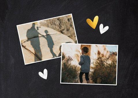 Vaderdag kaart je hebt een hart van goud foto krijtbord 2