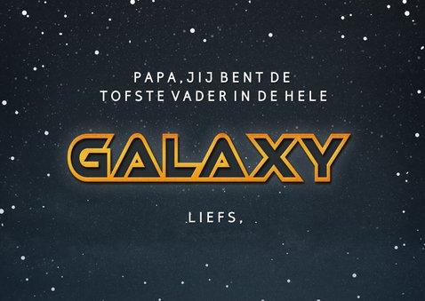 Vaderdag Sci-fi fotocollage kaart- best dad in the galaxy 3