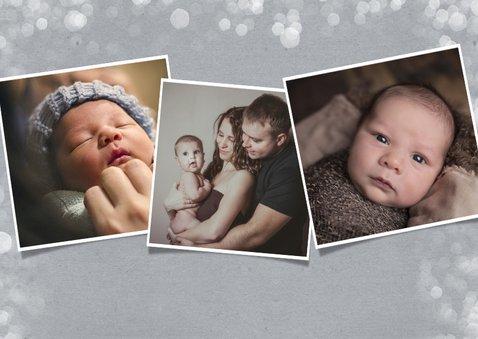 Vaderdagkaart fijne 1e vaderdag met grote foto en namen 2